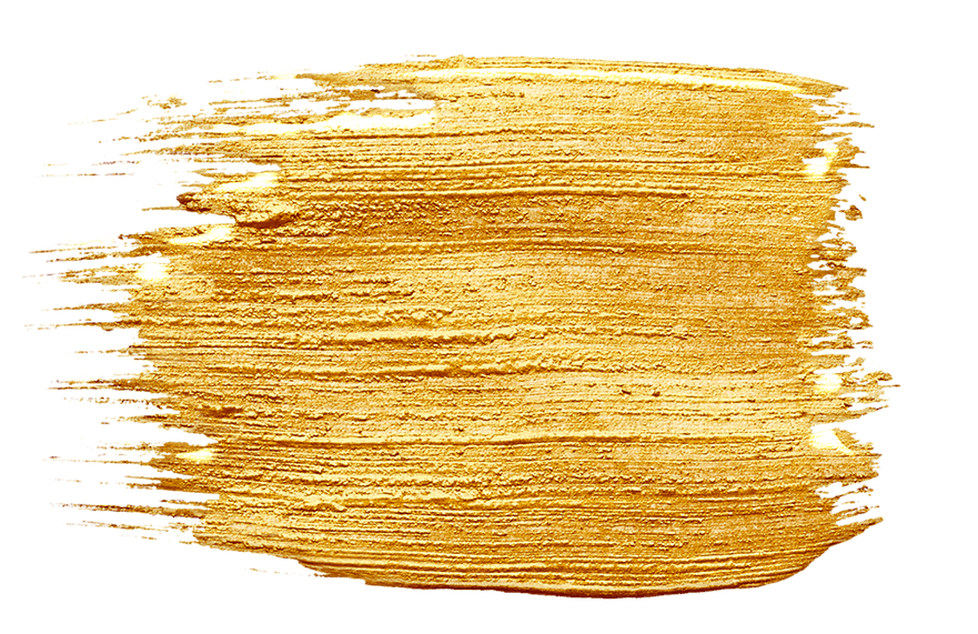 Gold Paint Splotch
